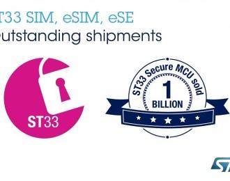 意法半导体ST33安全芯片破10亿销量大关